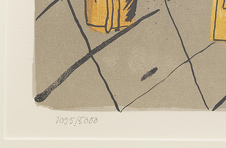 Madeleine pyk, lithograph in color, signed and numbered 1095/5000.