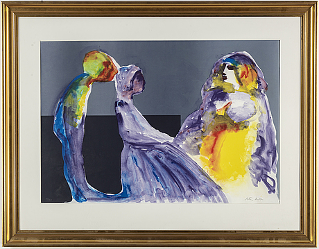 Peter dahl, lithograph in colours, signed 16/210.