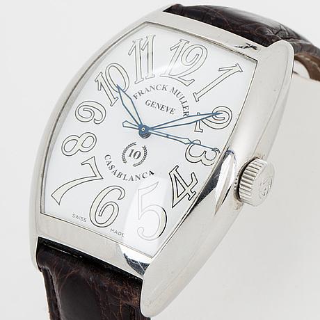 "Franck muller, casablanca, ""10th anniversary"", wristwatch, 39,5 x 47 (55) mm."