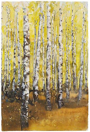 "Lars lerin, ""birches""."