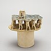 """Britt-ingrid """"bip"""" persson, skulptur signerad, 1960-tal."""
