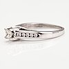 A 14k white gold ring with diamonds ca. 0.43 ct in total.