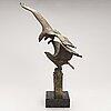 Jorma lehtonen, bronsskulptur, monogramsignerad.