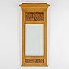 A 19th century birch mirror.