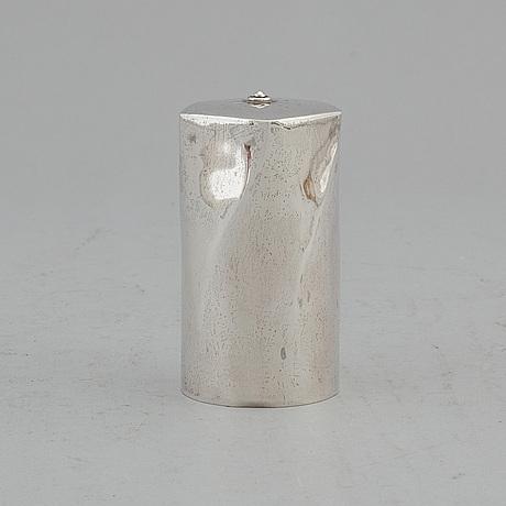 A swedish 20th century silver sugar-caster, mark of carl nyström, stockholm 1961.