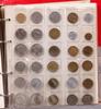 Album med mynt och sedlar, flertal länder däribland sverige, 1800-1900-tal.