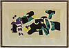 Lage lindell, lithograph in colours, signed.