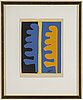 Henri matisse, after, pochoir, signed in plate, numbered 187/300.