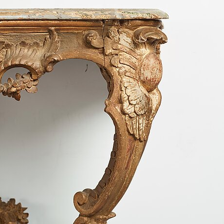 A swedish rococo 18th century console table.