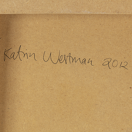 Katrin westman,  oil on panel, signed and dated 2012 verso.
