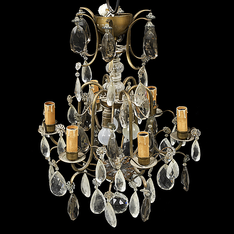 A mid 20th century rococo style ceiling light.