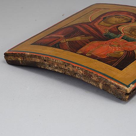 Icon , russia, 19th century, tempera on panel.