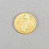 Guldmynt, fine gold, 50 dollars, usa, liberty, 2005. vikt ca 34 gram.