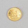 Guldmynt, finguld, 1/2 krugerrand, 1/2 oz, sydafrika, 1985. vikt ca 16 gram.