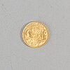 Coin helvetia 1947 gold, diameter ca 21 mm, weight ca 6,4 gr.
