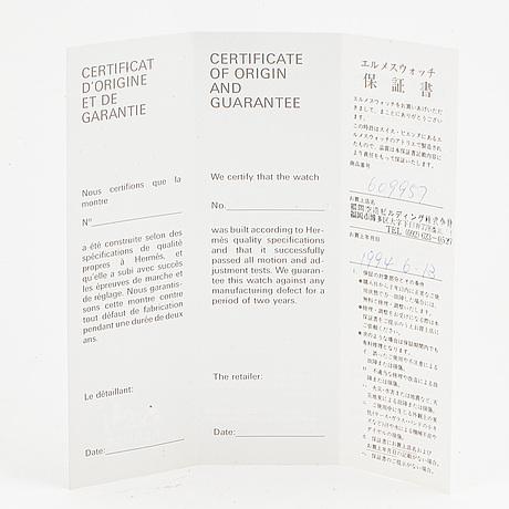 "HermÈs, ""medor"", wristwatch, 23 x 32 mm."