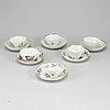 Six cups with saucers, china, qing dynasty, qianlong (1736-95).