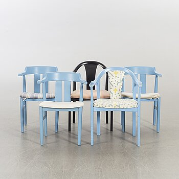 OLOF PIRA, A SET OF FIVE DIFFERENT CHAIR DESIGN BY OLOF PIRA.