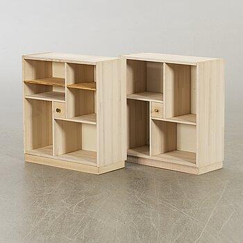 "TWO SMALL SHELFS ""DICK"" DESIGN BY OLOF PIRA, PINE."