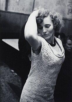 "1056. Anders Petersen, ""Marlene, Café Lehmitz, Hamburg"", 1970."