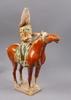 Figurin, keramik, tang-stil, kina, 1900-tal.