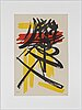 Hans hartung, lithograph, signed in pencil and numbered 41/100.