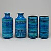 Aldo londi, vaser två par, stengods, bitossi, 1960-tal.