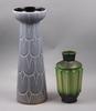 Vaser, 2 st, keramik. bo fajans, bla ewald dahlskog.