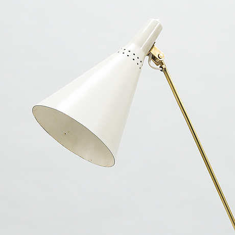 Tapio wirkkala, a mid-20th century 'k 10-11' floor light for idman, finland.