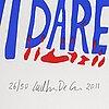 Carl johan de geer, silk screen, signed carl johan de geer, subskriberad upplaga numbered 26/50, dated 2011.