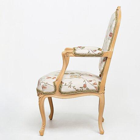 A louis xv armchair.