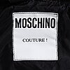 Moschino, a black leather jacket, italian size 48.