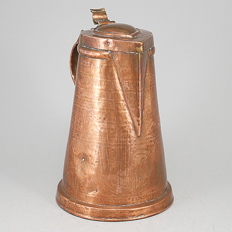 A copper jug, probably germany. ca 1800.