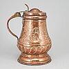 A copper tankard, probably germany. ca 1800.