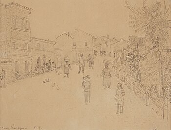 AXEL NILSSON, pencil drawing, signed and dated 1922.
