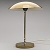 A mid-20th-century finnish brass table light, model ev 61, itsu.