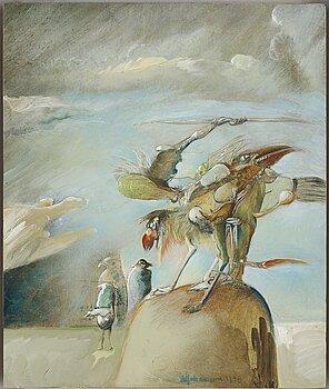 SVEN-ERIK JOHANSSON, olja på pannå. Signerad och daterad 1998.