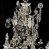 A 19th century baroque style chandelier.