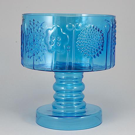 """Oiva toikka,   a """"flora"""" glass bowl, nuutajärvi notsjö."""