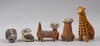 Figuriner, 5 st keramik. bl.a lisa larson gustavsberg.