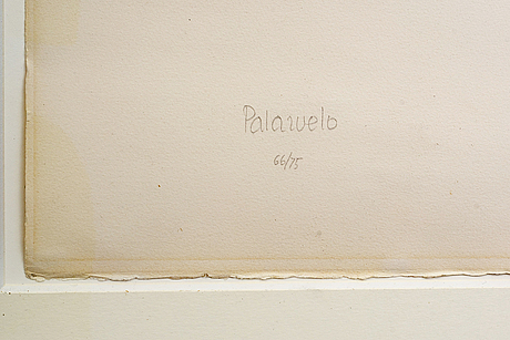 Pablo palazuelo, etching, aquatint, signed and numbered.