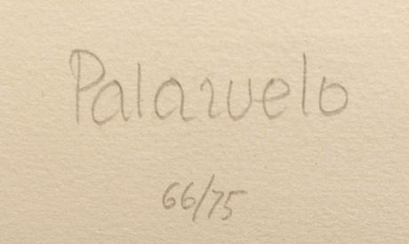 Pablo palazuelo, färgetsning, akvatint, signerad och numrerad 66/75.