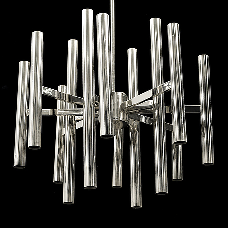 A chrome 24-light chandelier, second half of the 20th century.