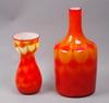 Vaser, 2 st, glas. elme glasbruk. 1960-tal.
