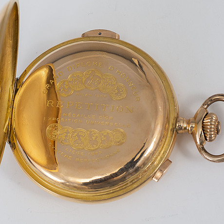 Pocket watch, 56,5 mm, chronograph, repeating,