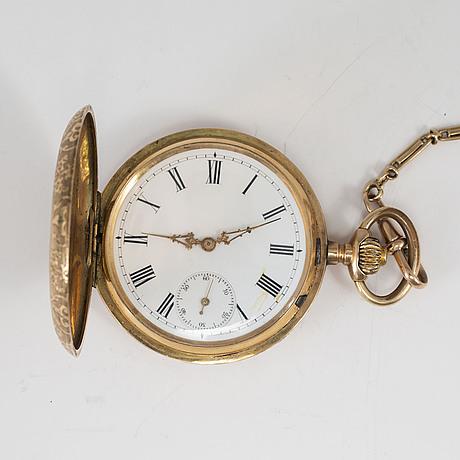 Pocket watch, 14k, 50,5 mm.