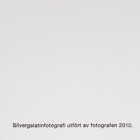 Gerry johansson, silver gelatine photograph, signed gerry johansson in pencil. edition 031/100.