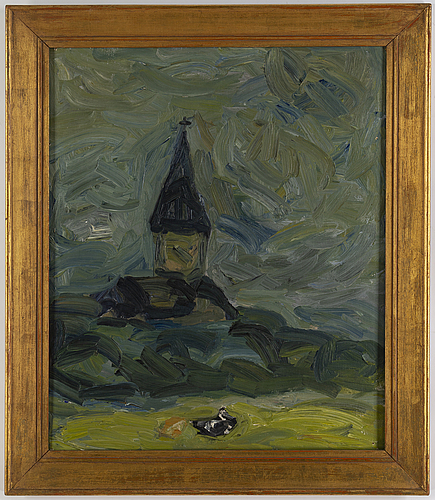 Evert lundquist, oil on canvas, signed and dated 1945 verso.