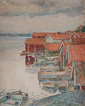 """460. Carl Wilhelmson, """"Septemberafton"""" (September evening, scene from Fiskebäckskil on the west coast of Sweden)."""