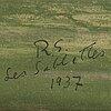 Ragnar sandberg, akvarell & gouache, signerad och daterad les sablettes 1937.